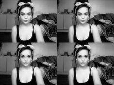 Pinup hair. I do this with a bandana to punk it up a little ;)