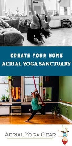 Great tips on how to set up aerial yoga at home plus a DIY hammock cleaner recipe!