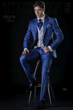 ONGala 1900 - Royal blue peak lapel wedding tuxedo