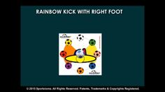 SoccerMat drill for today for exercising and developing sports skills with a soccer ball— Sequence: SoccerMat Rainbow Kick with Right Foot (Level Advanced)