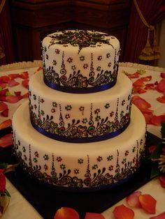 Mehndi inspired cake