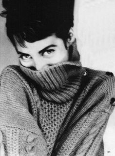 "sirpaulmaccaroni:  "" Christy Turlington posing as Jean Seberg for Vogue Oct. 1990   styled by Grace Coddington, photographed by Ellen von Unwerth.  """