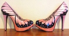 (The shoes Jinkx Monsoon wore for the finale.) Hand-painted Butterfly shoes by Hourglass Footwear