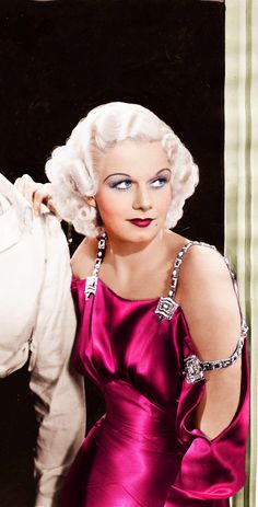 """Jean Harlow - 1930s.She was an incredibly gifted comedienne-rent """"Red Headed Woman"""" and see-who died of kidney disease at age 26."""