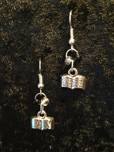 Open Book Earrings by CraftyOlBats on Etsy