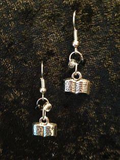 Open Book Earrings by CraftyOlBats on Etsy