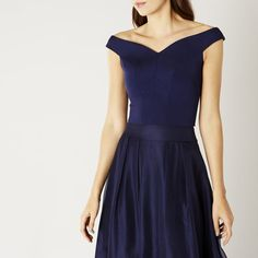 Navy Bardot Bridesmaid Top | Bridesmaid Seperate | Coast UK - ZAHARA TOP (affiliate)