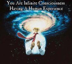Infinite consciousness having a Human experience Quantum Consciousness, States Of Consciousness, Higher Consciousness, Migraine, Spiritual Awakening, Spiritual Quotes, Spiritual Path, Karma, Illusion
