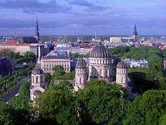 Riga, Letonia, Ciudad, Urbana, Cielo