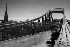 Black and White Photography (Schwarz-Weiß-Fotografie) - Frankfurt am Main - Eiserner Steg - Long Exposure - © Tim Münnig