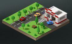 GARAGE - BLENDER - 3D - NATIONALE 7 france - www.photogriffon.com