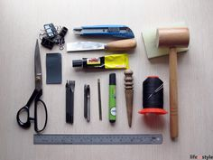 """The most frequently asked questions about leather craft, """"what tools should I buy?"""" Oh well, here you are the very very basic tools for beginner. Paper cutter, to cut thin to medium leather Angled ..."""