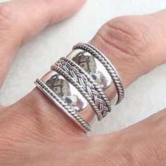Handcrafted Rings for sale Bohemian Accessories, Jewelry Accessories, Stylish Rings, Engagement Ring Cuts, Fashion Jewelry Necklaces, Silver Jewelry, Jewlery, Jewelry Collection, Cigar Band