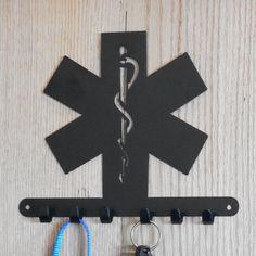 EMS Star of Life key holder 4500476 by ParisMetalArt on Etsy