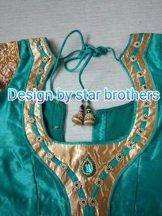 Saree Blouse Neck Designs, New Blouse Designs, Choli Designs, Kurti Neck Designs, Dress Neck Designs, Sleeve Designs, Blouse Desings, Patch Work Blouse Designs, Designer Blouse Patterns