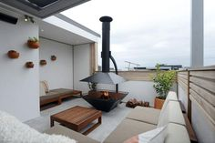 The Block Glasshouse - awesome fire pit