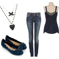 This is a perfect valentines day outfit. If only I owned even one of these pieces!
