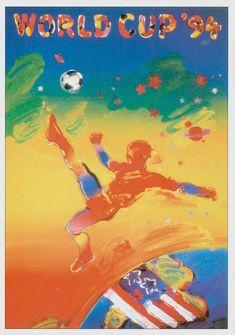posters coupe du monde football fifa usa 1994   posters de la coupe du monde de foot de 1930 à 1994   vintage poster football foot FIFA coup...