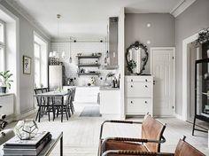 A serene Swedish home in muted green and grey | my scandinavian home | Bloglovin'