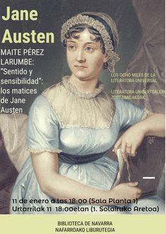 """11/01/2017. Charla de Maite Pérez Larumbe """"Sentido y sensibilidad"""": los matices de Jane Austen."""