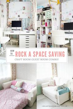 The Craft Room Blog Hop - a guide to creating a working craft room, home office and welcoming guest room all in one space http://www.hearthandmade.co.uk/craft-room-guest-room-combo/?utm_campaign=coschedule&utm_source=pinterest&utm_medium=Heart%20Handmade%20UK&utm_content=How%20To%20Rock%20A%20Creative%20Craft%20Room%20Guest%20Room%20Combo%21