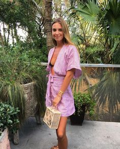 The gorgeous Talita Von Furstenberg looking oh so stylish with her Mucura Lunchbox bag on a beautiful Miami Beach day!