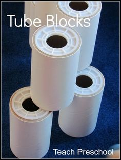Building and playing with our free tube blocks and where you can find them too