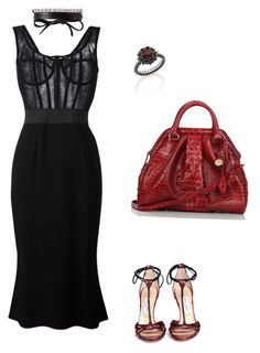 """""""love day a lil late"""" by cheriee-amore on Polyvore featuring Brahmin, Jimmy Choo, Fallon, Dolce&Gabbana and Carla Amorim"""