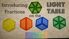 Introducing fractions on the light table from Still Playing School