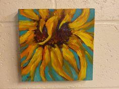 Art Original Acrylic Painting SUNFLOWERS  by KarenMargulisFineArt, $50.00