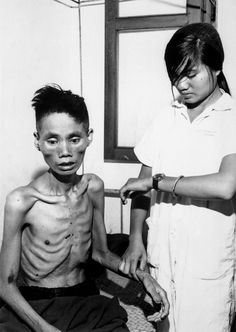 23-year-old man, who had defected from the Communist forces and joined the South Vietnam Government side, was recaptured by the Viet Cong and spent a month in a Viet Cong internment camp, 1966.