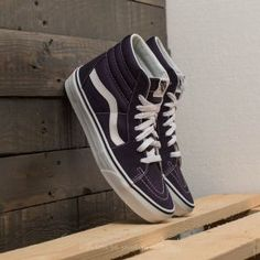 Vans Sk8-Hi Nightshade/ True White High Top Vans, High Tops, High Top Sneakers, Sk8 Hi, Vans Sk8, Fashion Outfits, Shoes, Zapatos, Shoes Outlet