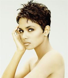 Halle Berry in short hair cut