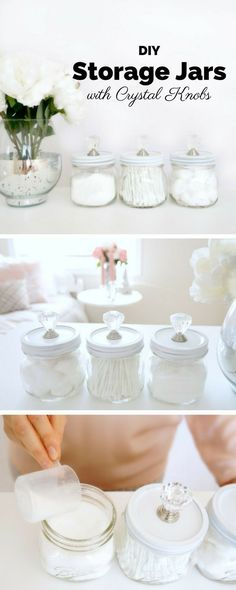 Check out the tutorial: #DIY Storage Jars with Crystal Knobs /istandarddesign/