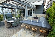 Check out these awesome built-ins and creative DIY ideas that are perfect for any backyard party. ideas about Patio bar, Outdoor bars near me and Farmhouse . Modern Outdoor Bar Stools, Modern Outdoor Kitchen, Outdoor Kitchen Bars, Outdoor Living, Outdoor Decor, Outdoor Kitchens, Outdoor Bars, Outdoor Ideas, Indoor Outdoor