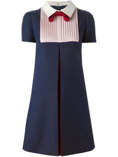 To find out about the Navy Tie Lapel Short Sleeve Pleated Dress at SHEIN, part of our latest Day Dresses ready to shop online today! Day Dresses, Cute Dresses, Vintage Dresses, Dress Outfits, Fashion Dresses, Short Sleeve Dresses, Pleated Dresses, Valentino Dress, Valentino Couture
