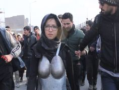 Kubra Khademi walked the streets of Kabul in armor to fight sexual harassment. Now she's receiving death threats