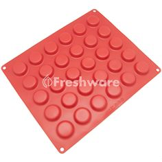 Freshware 30-Cavity Silicone Mini Round Cookie, Chocolate, Candy and Gummy Mold #Freshware