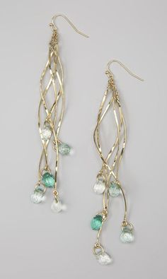 Gold & Green Drop Earrings - I really like these though they are not my usual style.