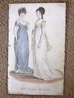 Lady's Monthly Museum, Full Dress, April 1800