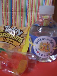 The Build-A-Bear Party Favors.