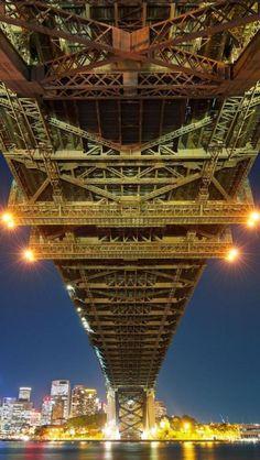 beneath the Sydney Harbour Bridge