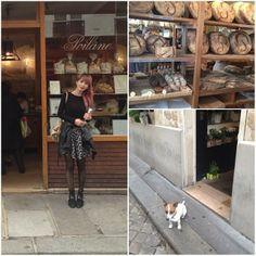 @aoikoga #フランス #ポワラーヌ #poilane #昔ながらの製法で作るパン屋さん #右下は花屋の看板犬君(ちゃん?)