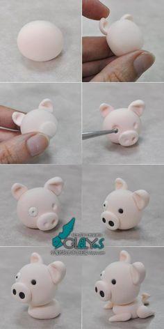Свинка из полимерной глины