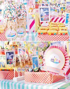 tomorrowland ideas for a disneyland themed party party Vintage Disneyland Amusement Park Party Birthday Party At Park, Birthday Fun, Birthday Party Themes, Birthday Ideas, Minnie Birthday, Disney World Birthday, Disneyland Birthday, Disney Magic, Punk Disney