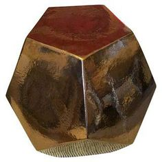 Gold Dodecahedron Stool