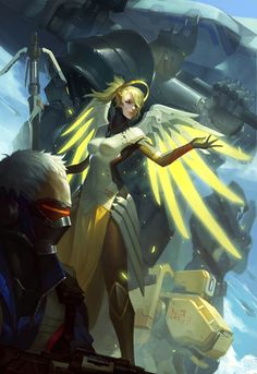 #2 - Mercy and Soldier:76 of Overwatch Poster via Games for gamers blog  #overwatch #gaming