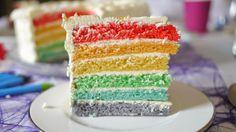 Regnbuekake / rainbow cake #regnboge #chocolate #sjokolade