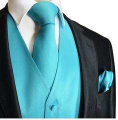 59 Trendy Ideas For Wedding Suits Men Turquoise Tiffany Blue Wedding Vest, Tuxedo Wedding, Wedding Suits, Wedding Tuxedos, Wedding Hair, Bridal Hair, Wedding Dresses, Turquoise Suit, Bleu Turquoise