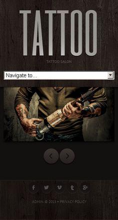 Template 44167 Tattoo Salon, Joomla Templates, Template Site, Privacy Policy, Website